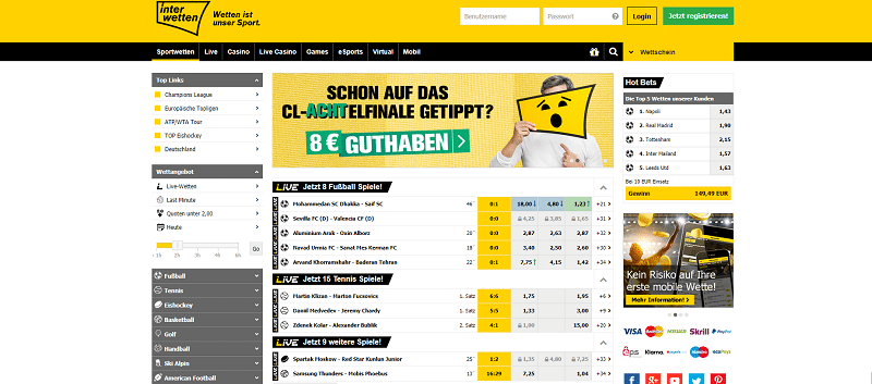interwetten Design
