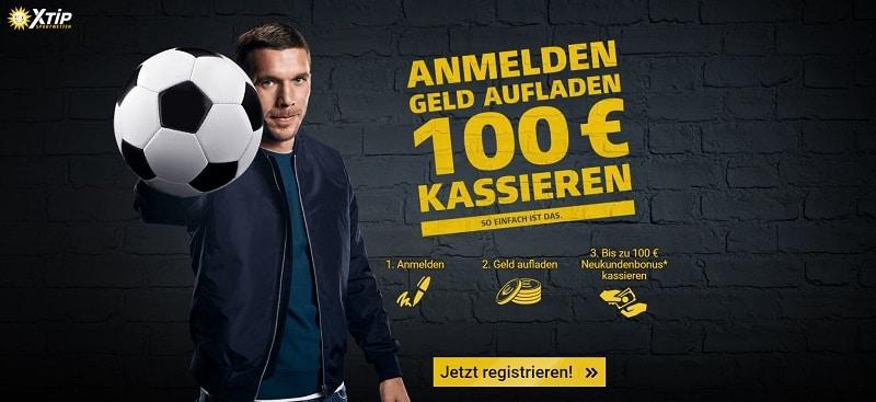 XTip Neukunden Bonus 100 €
