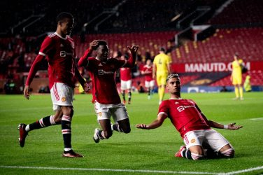 A stunning volley by Andreas Pereira